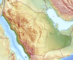 Large relief map of Saudi Arabia.