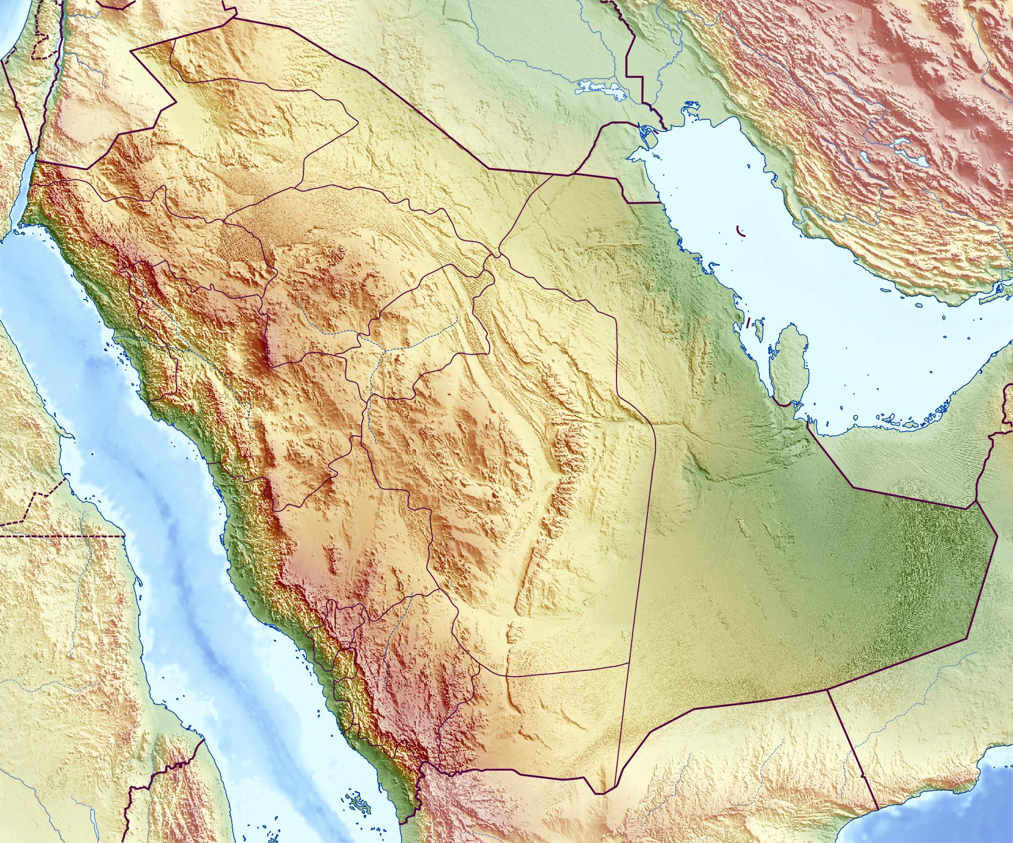 Topographic Map Of Saudi Arabia.Maps Of Saudi Arabia Detailed Map Of Saudi Arabia In English