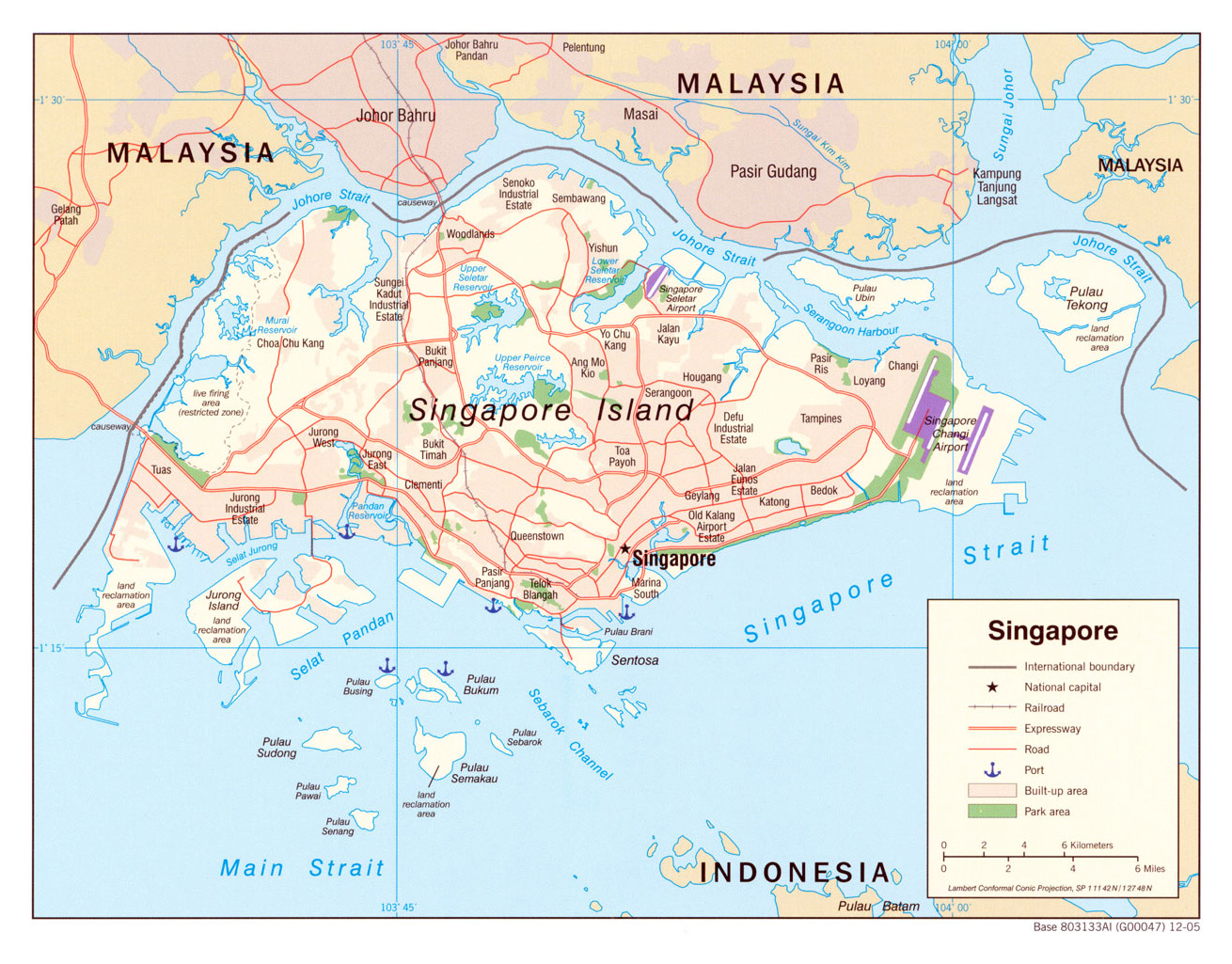 Maps of Singapore Detailed map of Singapore in English – Singapore Tourist Map