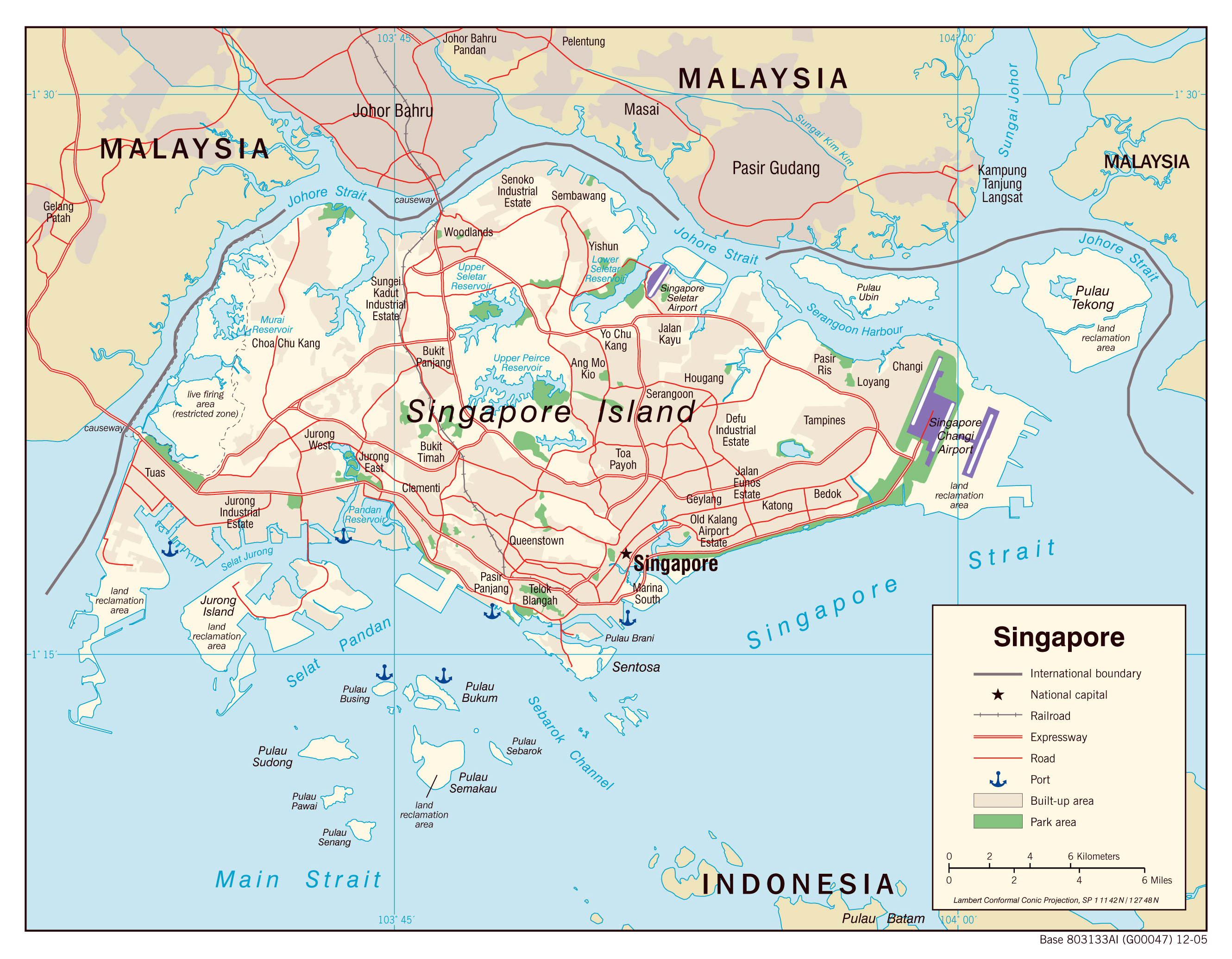 Maps Of Singapore Detailed Map Of Singapore In English Tourist Map Of Singapore Road Map Of Singapore Political Relief Physical Map Of Singapore
