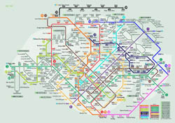 Large detailed rail map of Singapore city.