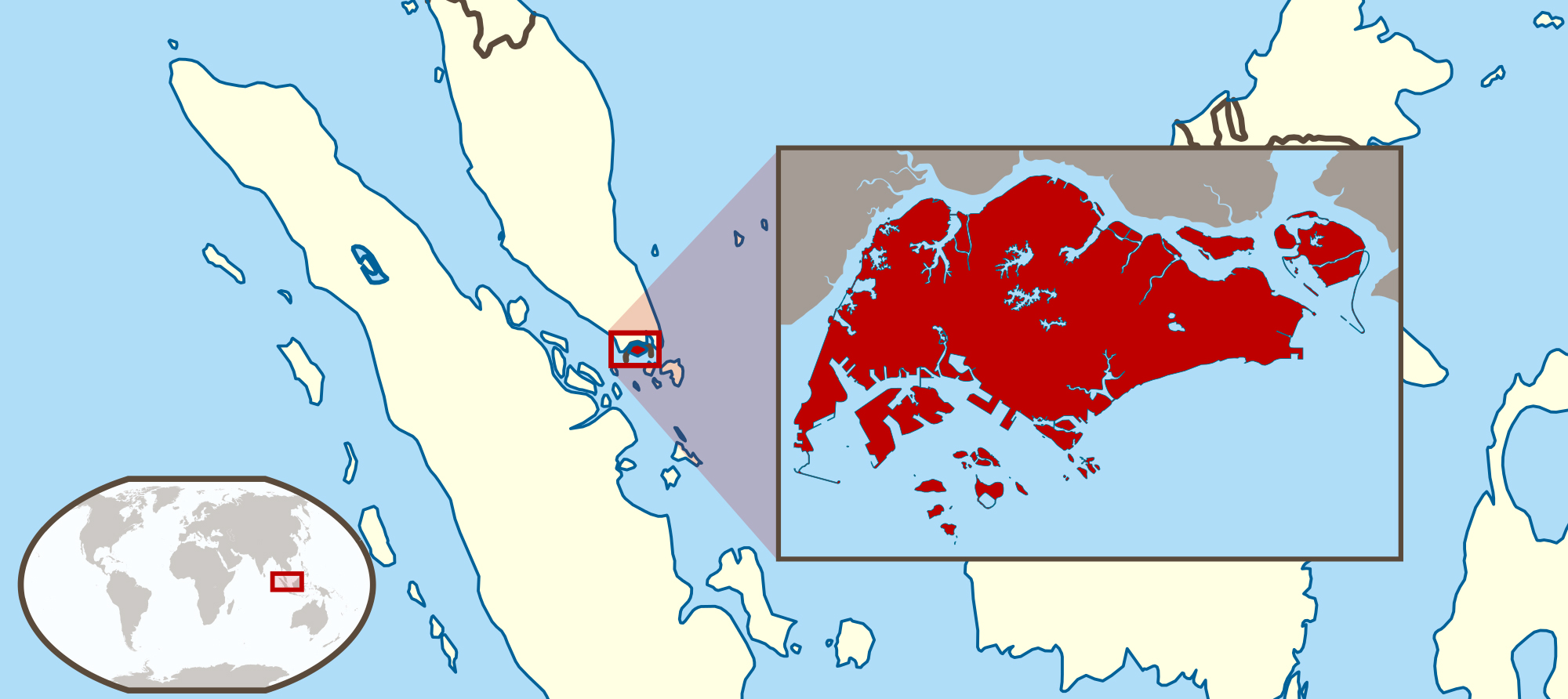 Maps of Singapore | Detailed map of Singapore in English | Tourist