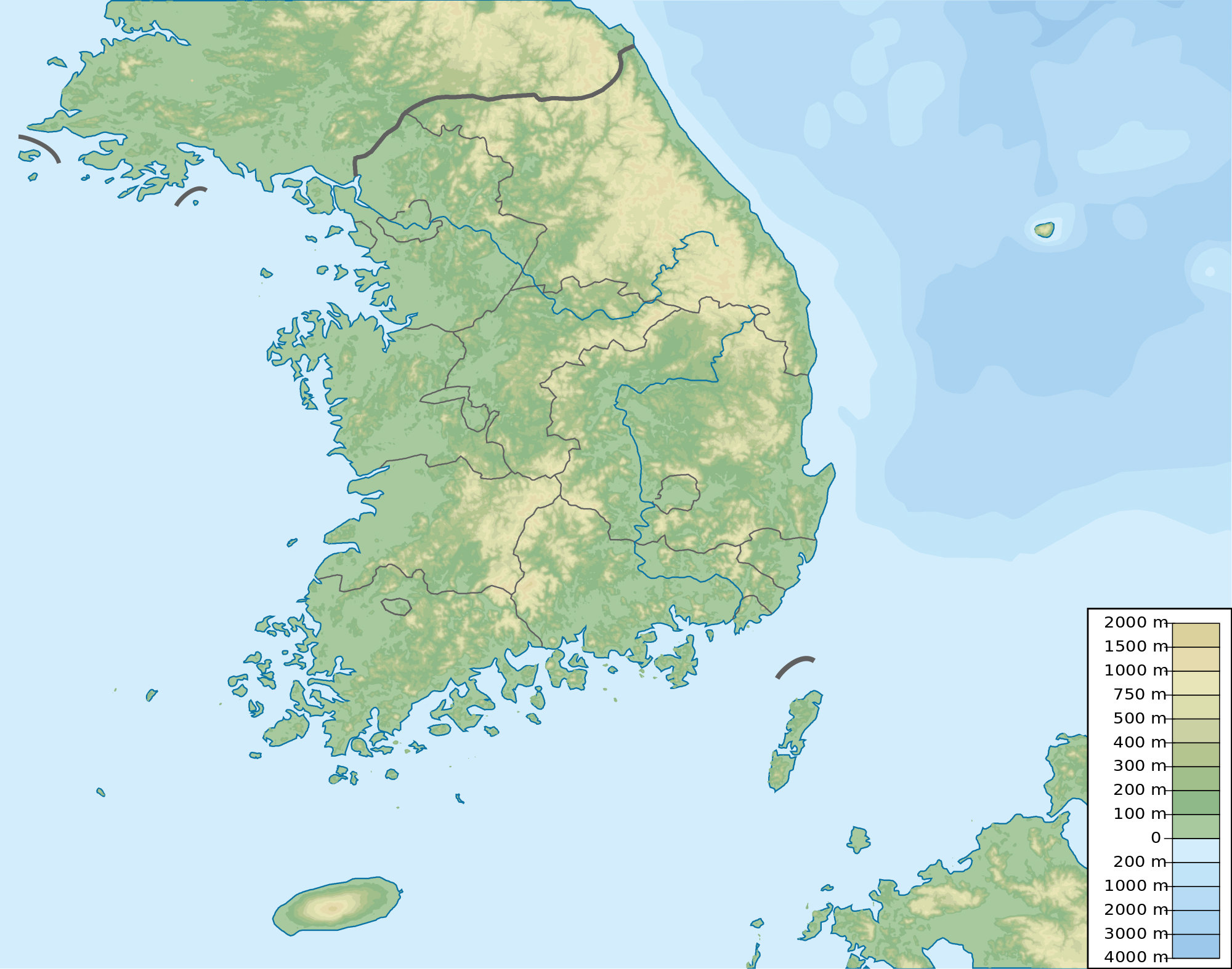 Maps of South Korea Detailed map of South Korea in English Tourist map of