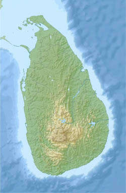 Large detailed relief map of Sri Lanka.