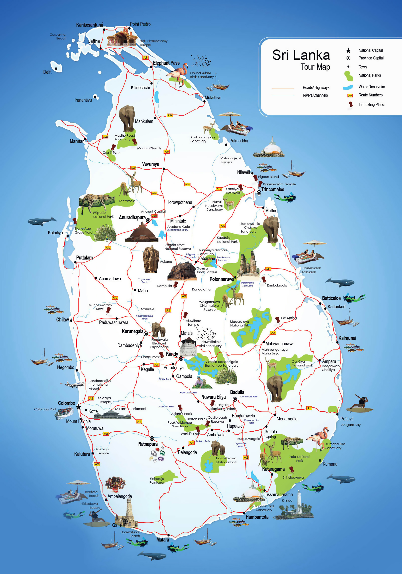 Maps of Sri Lanka Detailed map of Sri Lanka in English Tourist