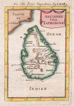 Large scale old map of Sri Lanka (Ceylon) - 1686.