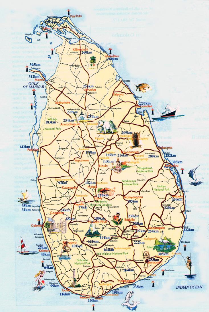 maps of sri lanka detailed map of sri lanka in english. Black Bedroom Furniture Sets. Home Design Ideas