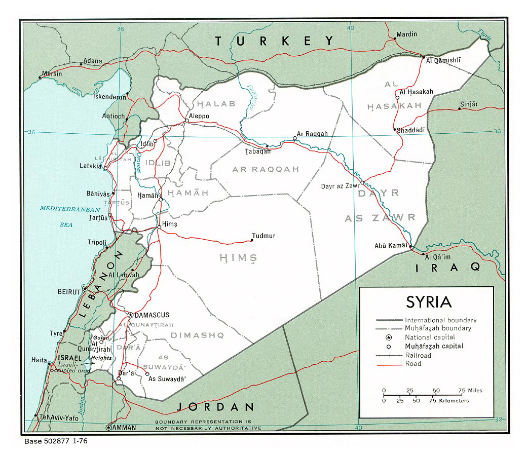 Maps of Syria Detailed map of Syria in English Tourist map of