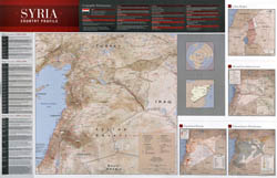 Large scale country profile map of Syria - 2011.