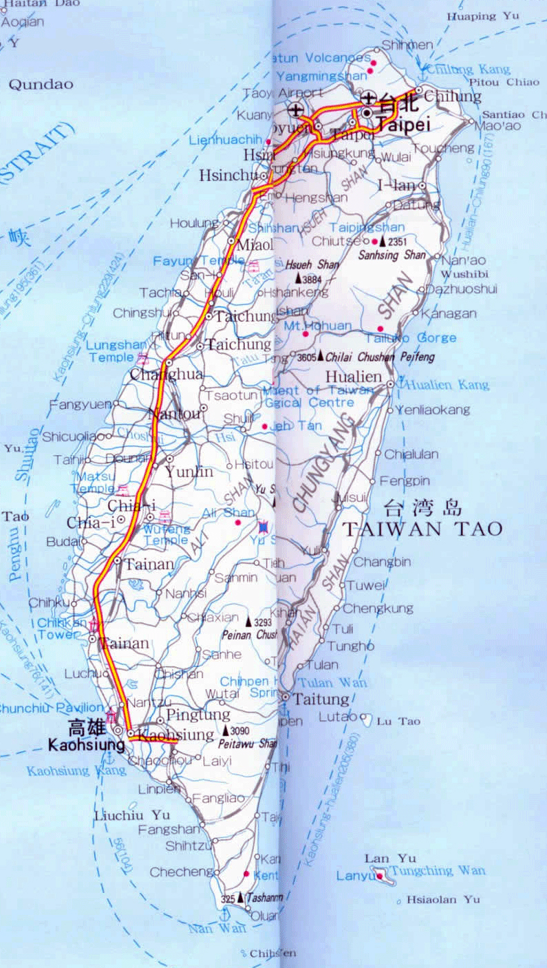 Asia Map Taiwan.Maps Of Taiwan Detailed Map Of Taiwan In English Tourist Map Of
