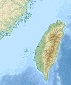 Large relief map of Taiwan.