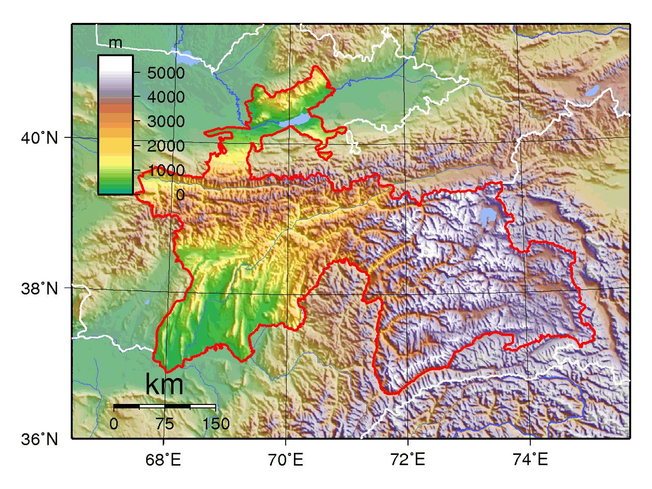 Maps of Tajikistan   Detailed map of Tajikistan in English   Tourist ...