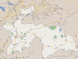 Large road map of Tajikistan with all cities.