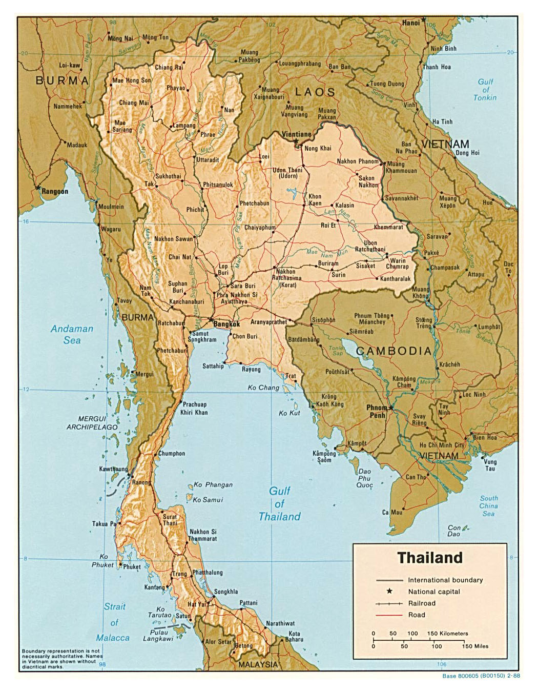 Maps of Thailand   Detailed map of Thailand in English ...
