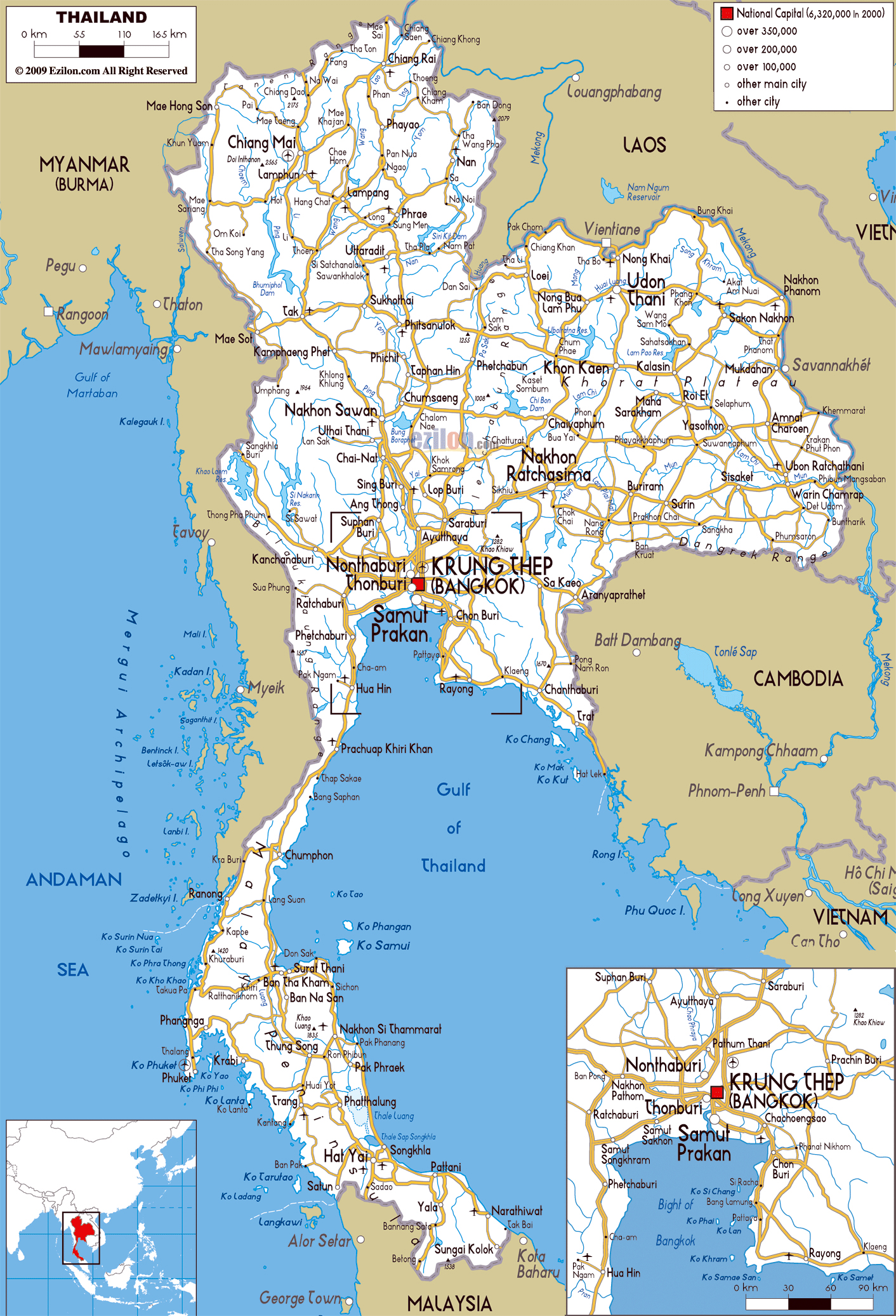 Maps Of Thailand Detailed Map Of Thailand In English Tourist