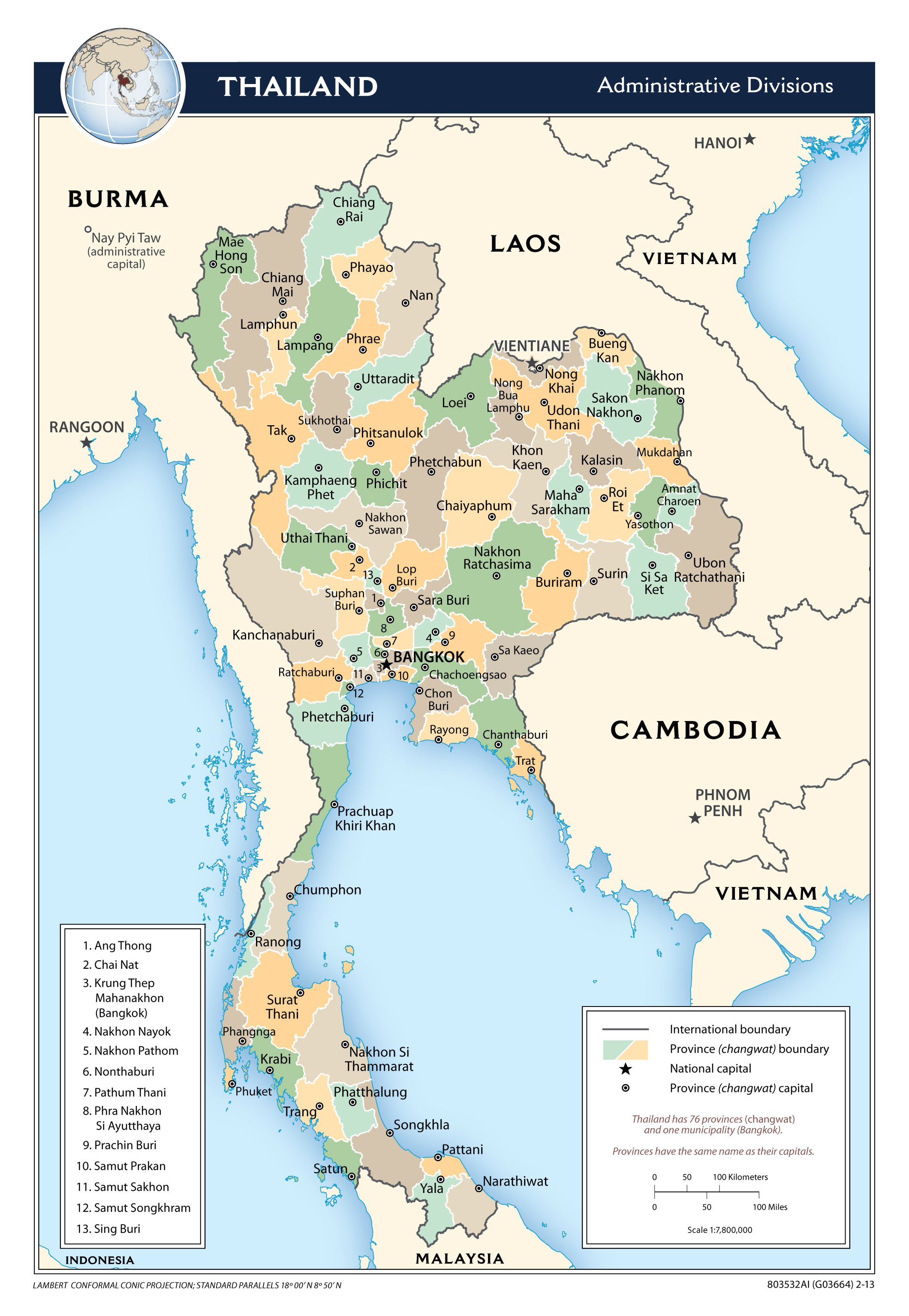 Maps Of Thailand Detailed Map Of Thailand In English Tourist - Large scale world map