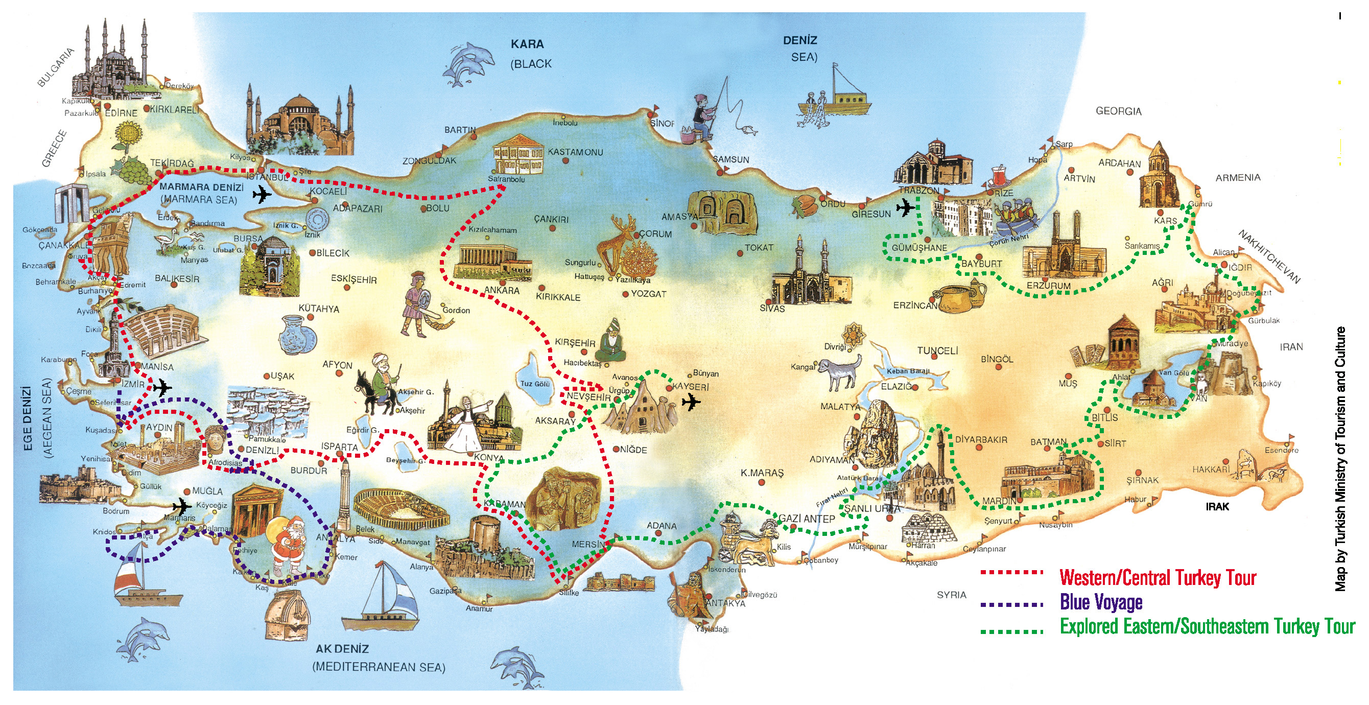 Maps Of Turkey Detailed Map Of Turkey In English Tourist Map - Detailed map of world