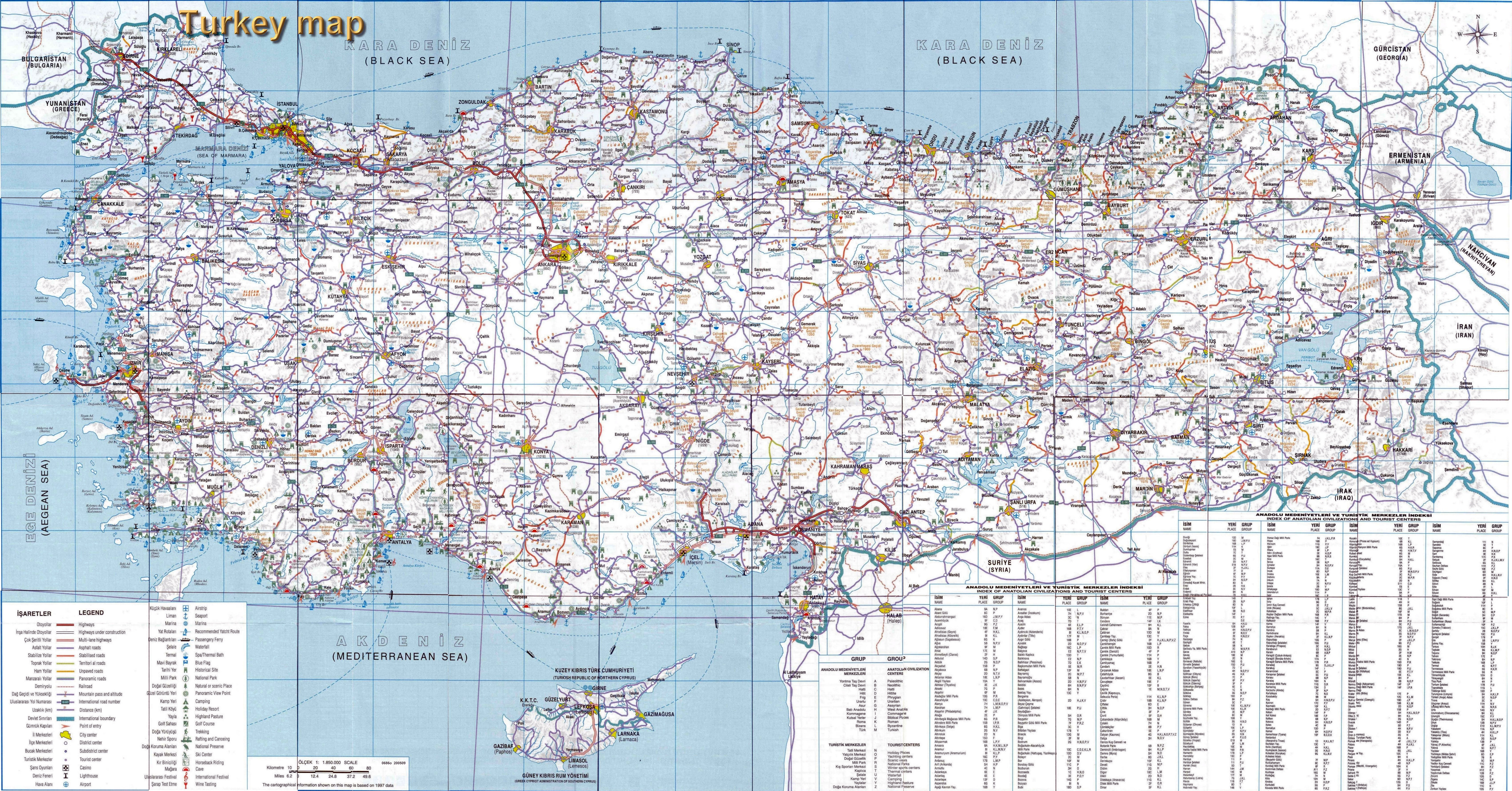 Maps of Turkey | Detailed map of Turkey in English | Tourist map of ...