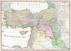 Large detailed old map of Turkey - 1794.