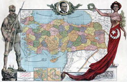 Large scale detailed old political map of Turkey.