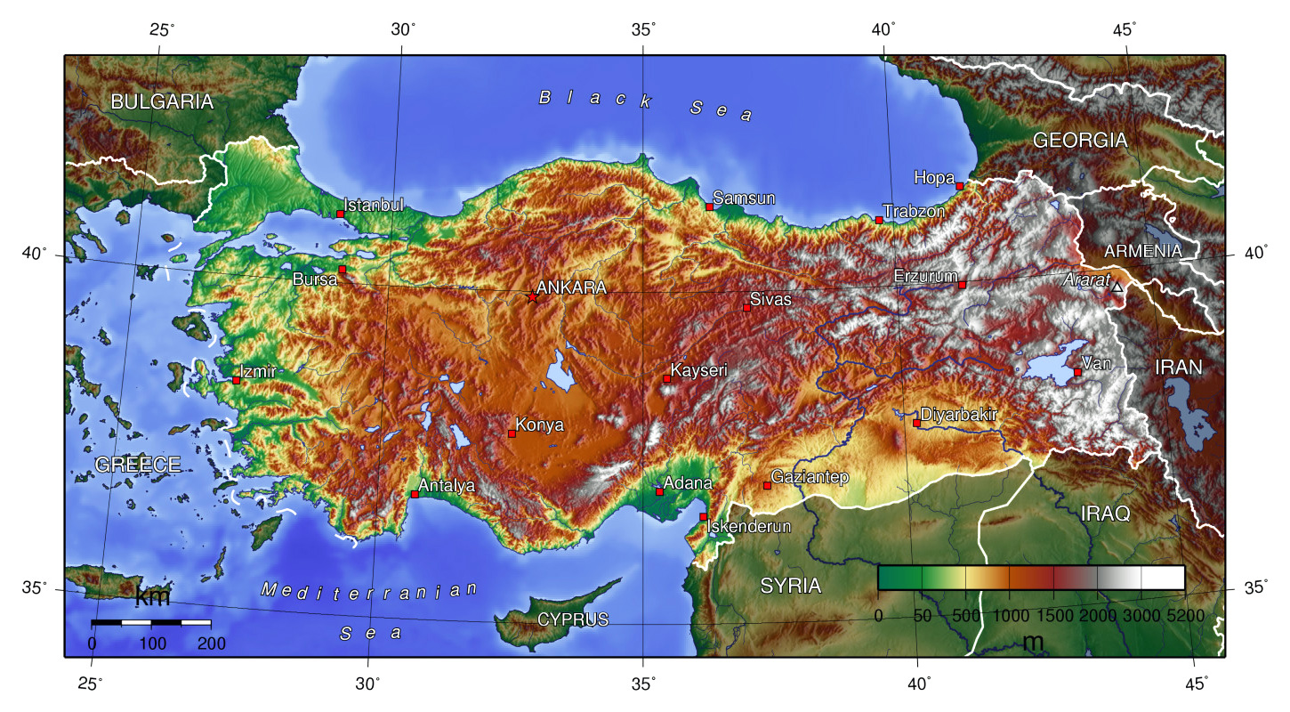 Maps Of Turkey Detailed Map Of Turkey In English Tourist Map Of