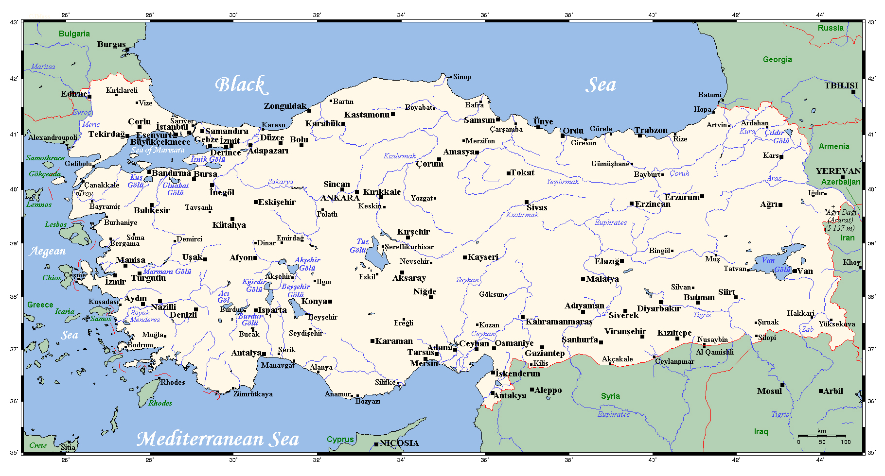 Maps Of Turkey Detailed Map Of Turkey In English Tourist Map - Turkey map
