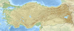 Relief location map of Turkey.