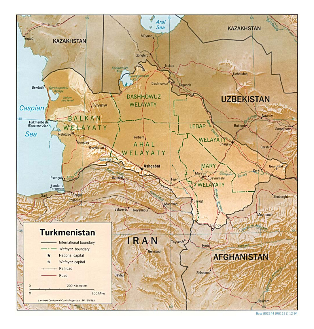 Maps of Turkmenistan Detailed map of Turkmenistan in English