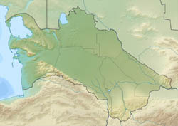 Large relief map of Turkmenistan.