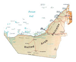 Detailed map of UAE.