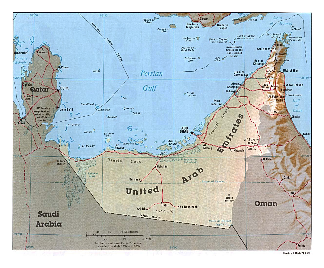 Maps of United Arab Emirates | Detailed map of UAE in English ...
