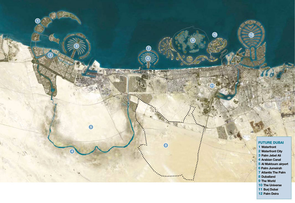Maps Of Dubai Detailed Map Of Dubai City In English Maps Of