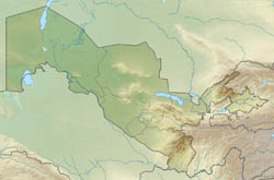 Large relief map of Uzbekistan.