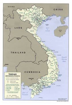 Detailed administrative map of Vietnam - 2001.