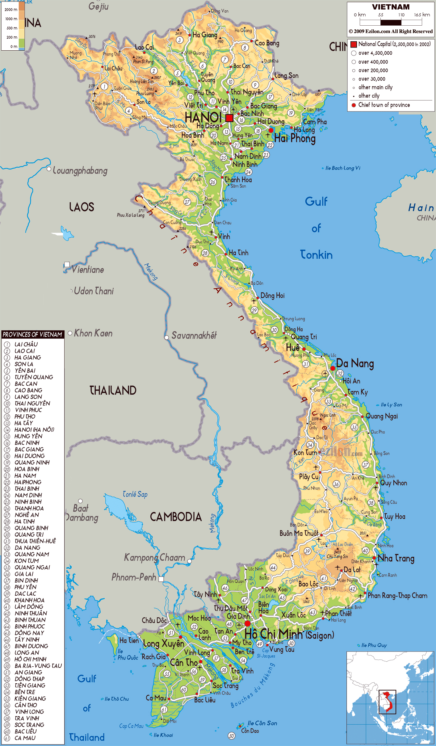 Maps of Vietnam Detailed map of Vietnam in English Tourist map of Vietnam