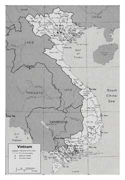 Large political and administrative map of Vietnam.