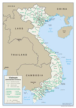 Large scale administrative divisions map of Vietnam - 2001.