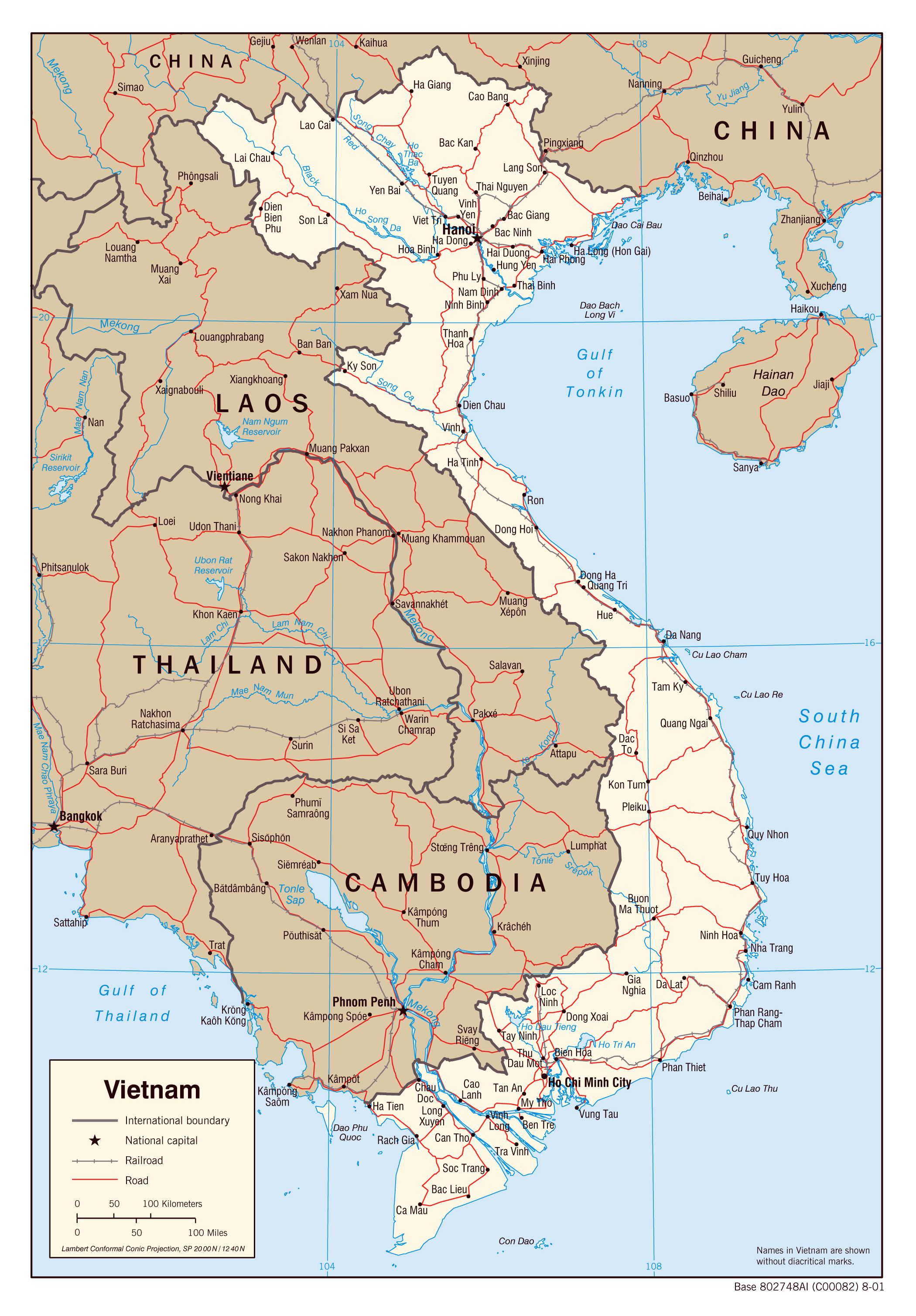Maps of Vietnam   Detailed map of Vietnam in English   Tourist map ...