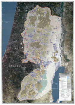Large scale map of West Bank - 2008.
