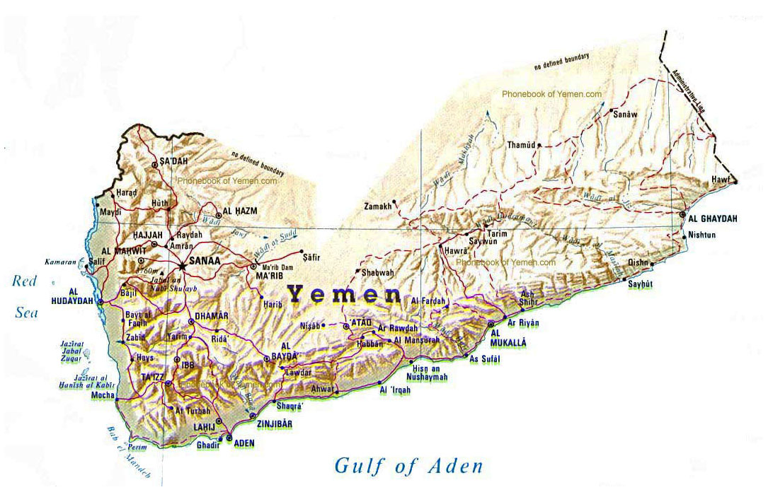 Maps Of Yemen Detailed Map Of Yemen In English Tourist Map Of - Map of yemen