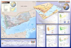 Large detailed country profile map of Yemen - 2002.