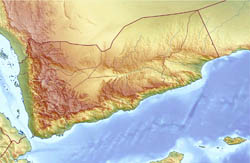 Large relief map of Yemen.