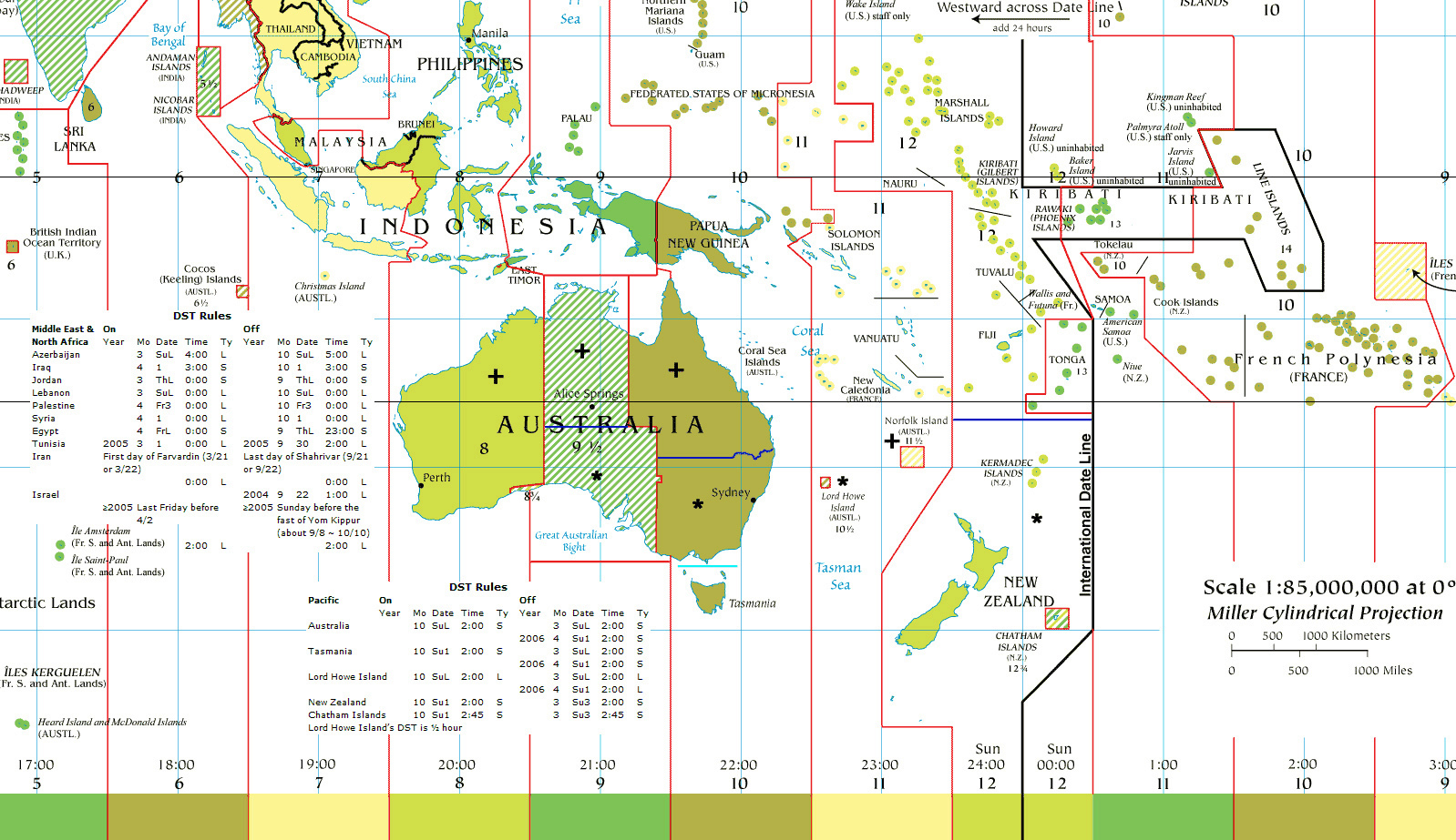 Map Of Asia Australia.Maps Of Australia And Oceania And Oceanian Countries Political