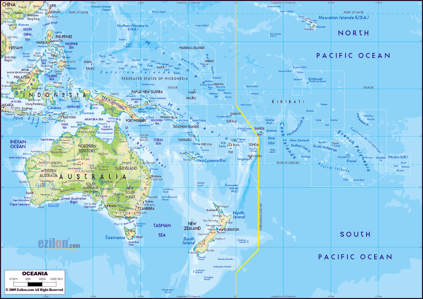 Major Cities In Australia Map.Maps Of Australia And Oceania And Oceanian Countries Political