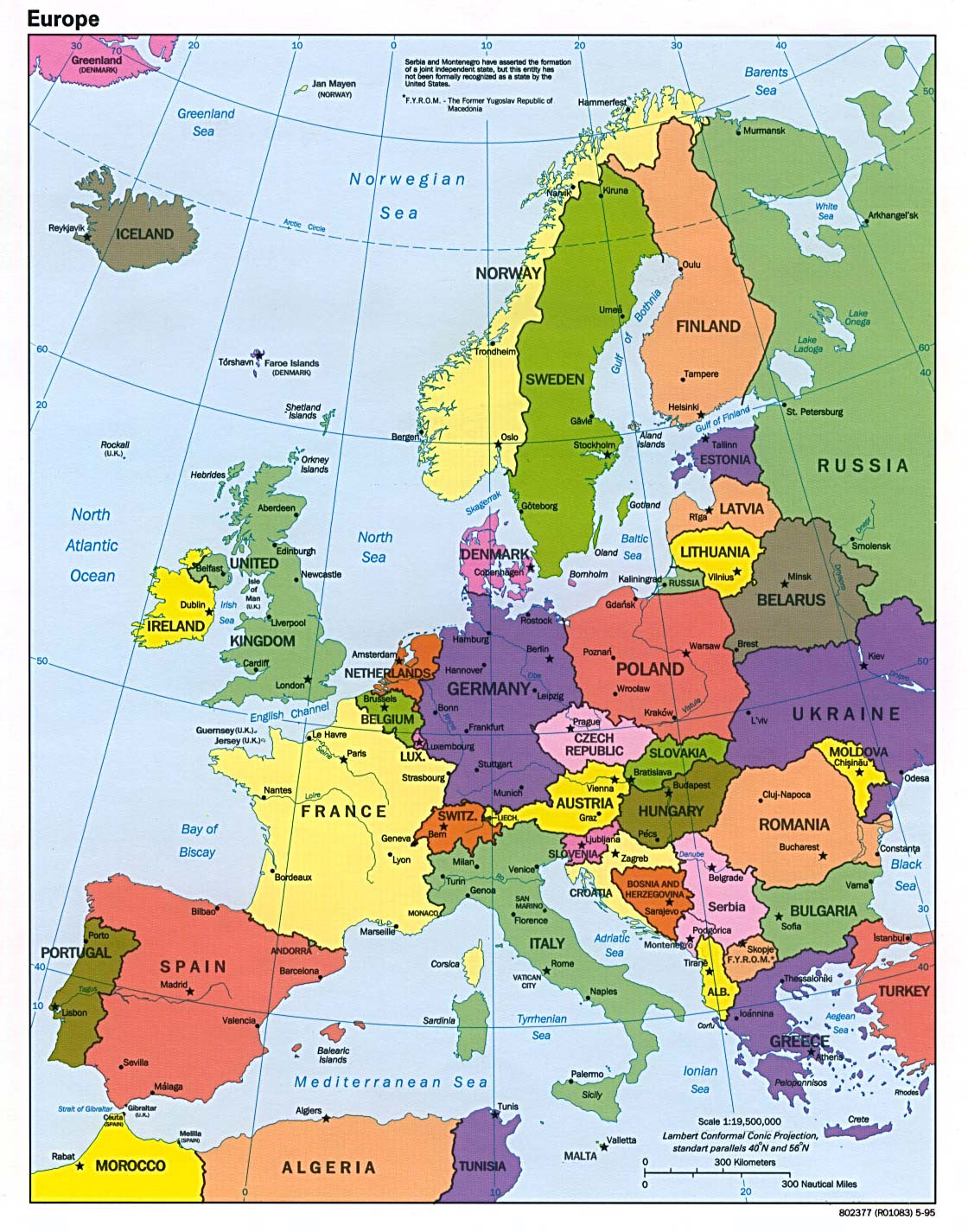 Maps of Europe and European countries – Travel Map Of Europe With Cities