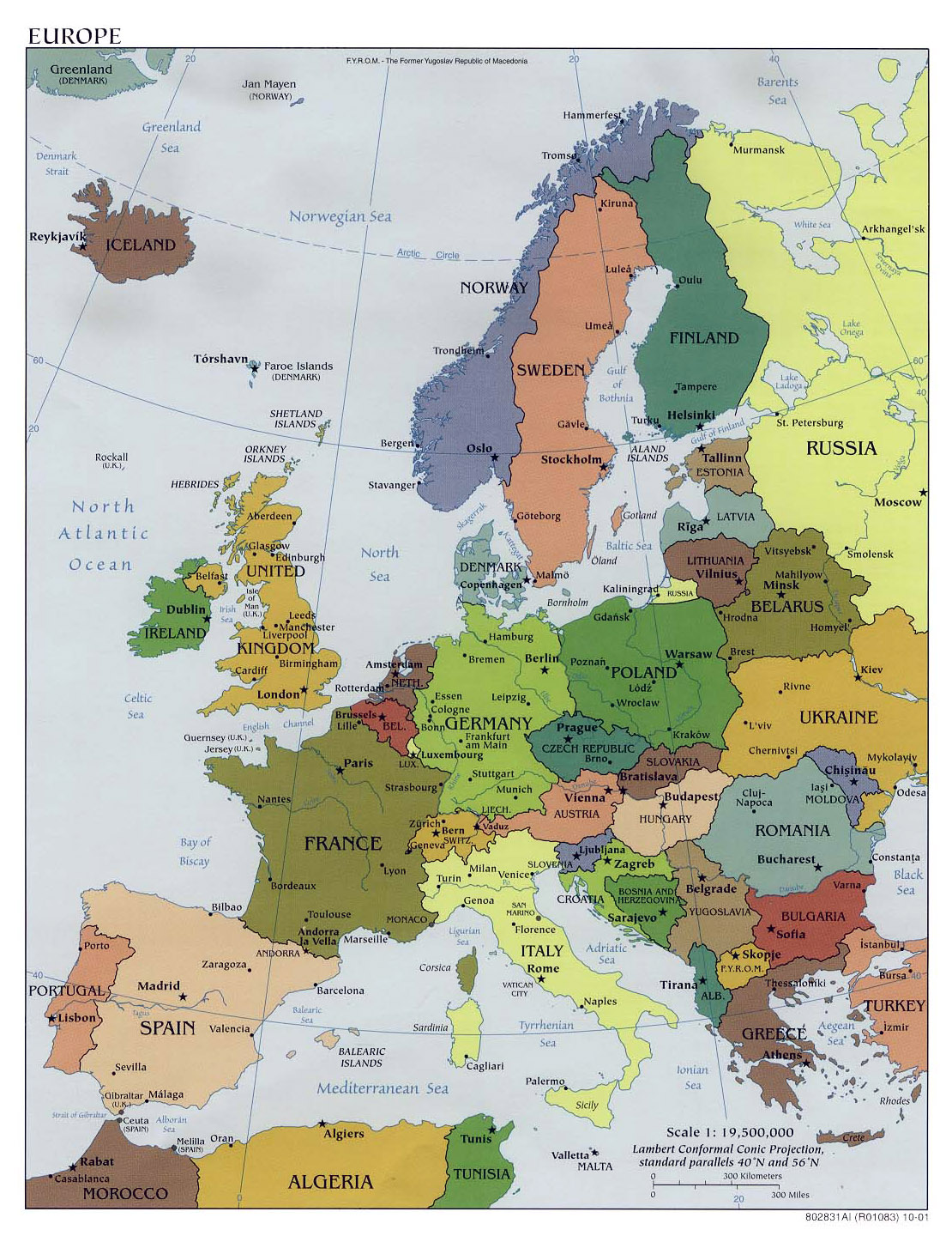 Maps of Europe and European countries Political maps Administrative and Ro