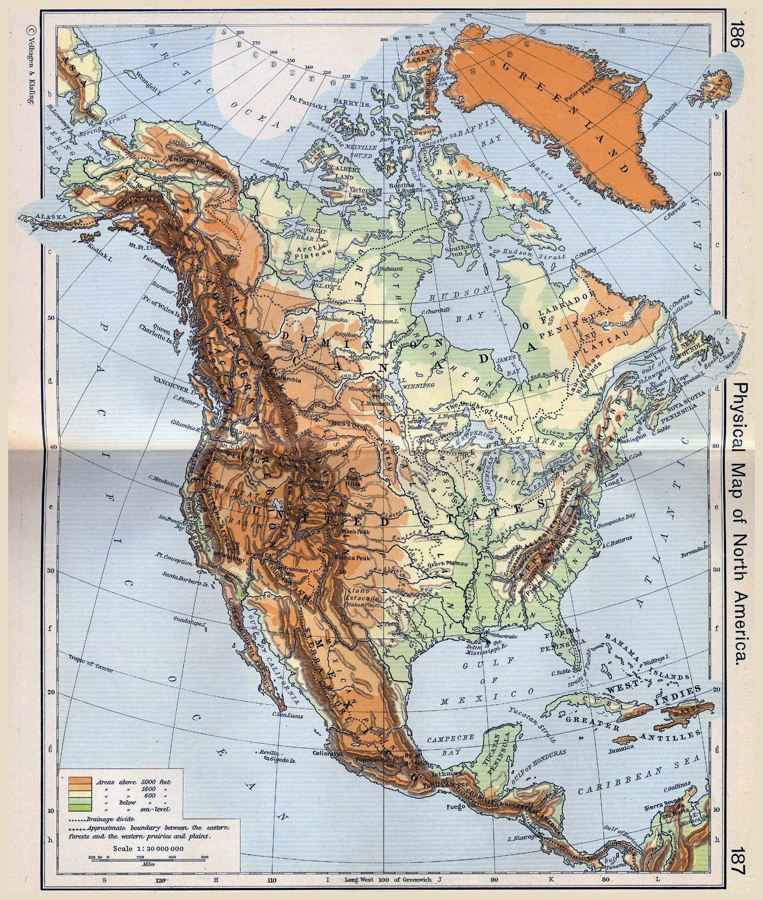 Maps Of North America And North American Countries Political - Physical map of western us