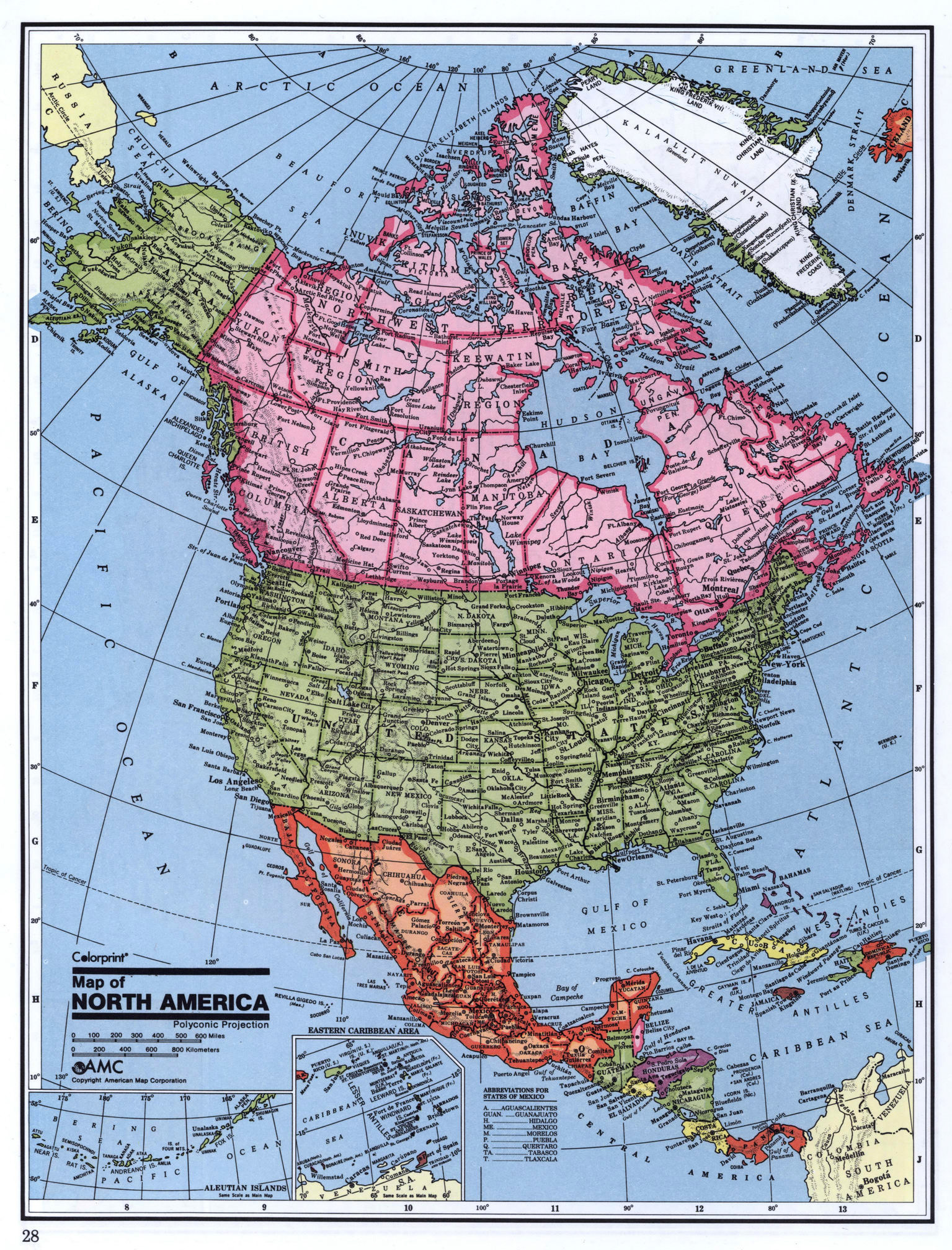 Maps of north america and north american countries political detailed political map of north america gumiabroncs Choice Image