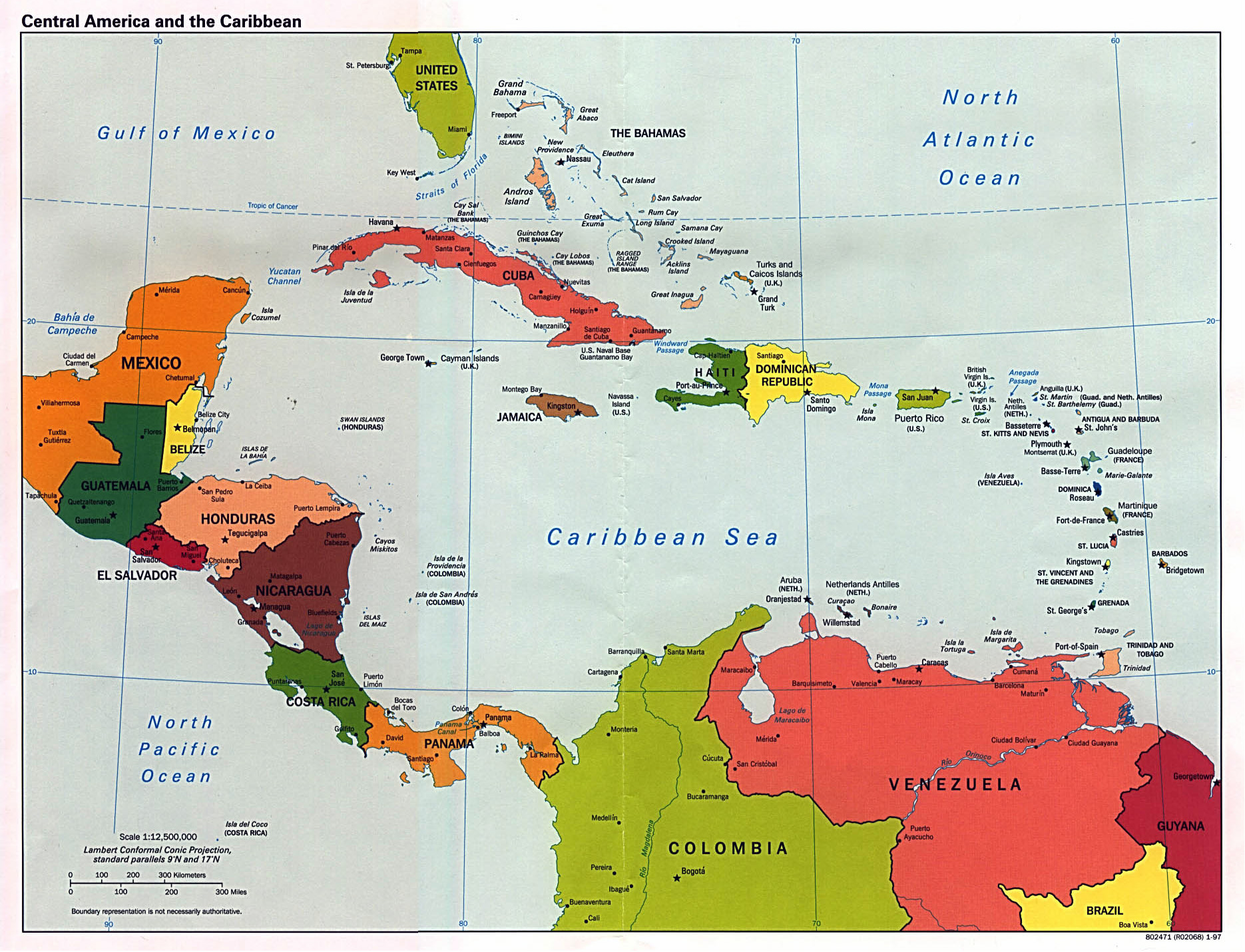 Maps of North America and North American countries ...