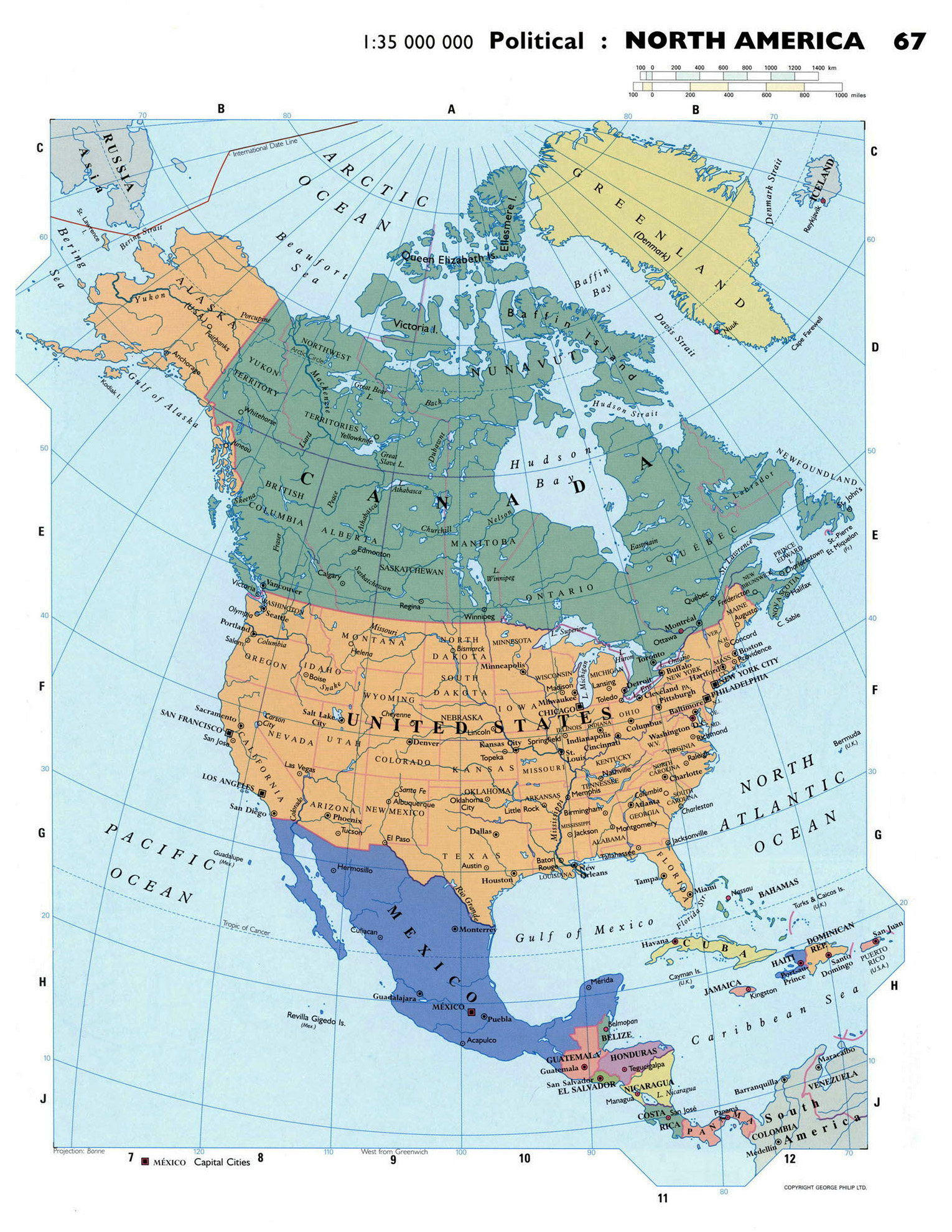 Maps of north america and north american countries political large detailed political map of north america gumiabroncs Image collections